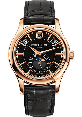 "Image of ""Patek Philippe 18K Rose Gold / Leather Automatic 40mm Mens Watch"""