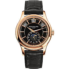 Patek Philippe 18K Rose Gold / Leather Automatic 40mm Mens Watch