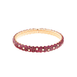 Stretch Collection 18K Rose Gold Diamonds and Rubies Bracelet