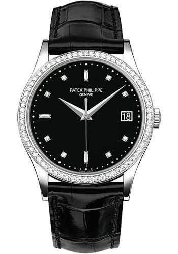 Patek Philippe Calatrava 5297G 18K White Gold / Leather Matt Black
