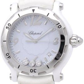 Chopard Happy Sport 8507 Ceramic Quartz 39mm Womens Watch