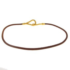 Hermes Gold Plated Jumbo Choker Necklace