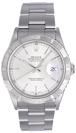 """Image of """"Rolex Turnograph 16264 Stainless Steel Silver Dial 36mm Mens Watch"""""""