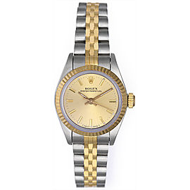 Rolex Oyster Perpetual 67913 2-Tone Stainless Steel and 18K Yellow Gold 26mm Womens Watch