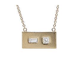 Julez Bryant 14K Rose Gold with Diamond Rectangular Pendant Necklace