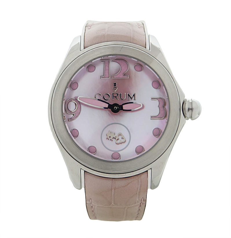 """Image of """"Corum Bubble 295.100.20/0088 Pn36 Stainless Steel Pink Mother Of Pearl"""""""