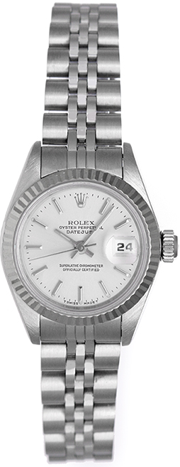 "Image of ""Rolex Datejust 69174 Stainless Steel Silver Dial 26mm Womens Watch"""