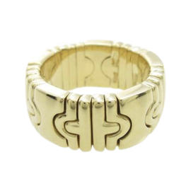 Bulgari 18K Yellow Gold Parentesi Ring Size 4.25