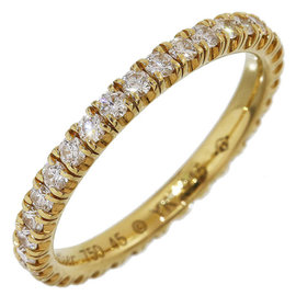 Cartier 18K Yellow Gold Full Diamonds Eternity Ring Size 3.25
