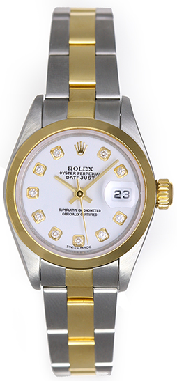 "Image of ""Rolex Datejust 79163 Stainless Steel & 18K Yellow Gold White Diamond"""