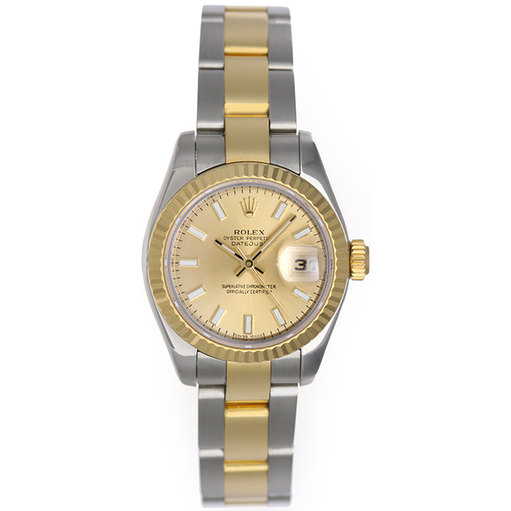 "Image of ""Rolex Datejust 179173 Stainless Steel / 18K Yellow Gold Champagne Dial"""