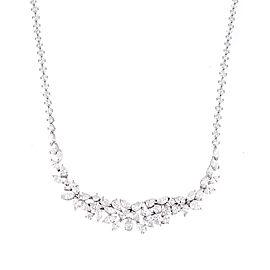 Unique Collection 18K White Gold Diamonds Necklace