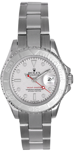 """Image of """"Rolex Yacht-Master 169622 Stainless Steel Platinum Dial Automatic 29mm"""""""