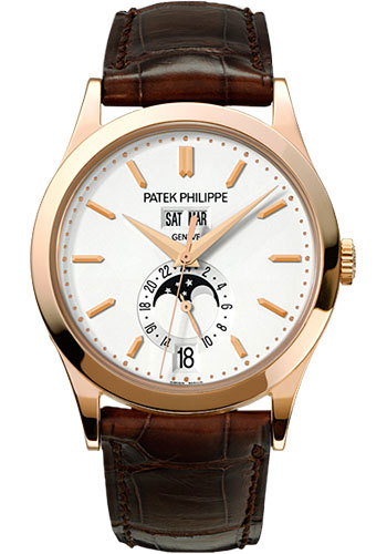 "Image of ""Patek Philippe 18K Rose Gold / Leather Automatic 38mm Mens Watch"""