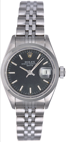 """Image of """"Rolex Date 69160 Stainless Steel 26mm Womens Watch"""""""