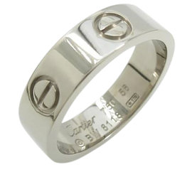 Cartier 18K White Gold Love Ring Size 7.5