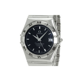 Omega Constellation Stainless Steel Black Dial Automatic 35mm Womens Watch