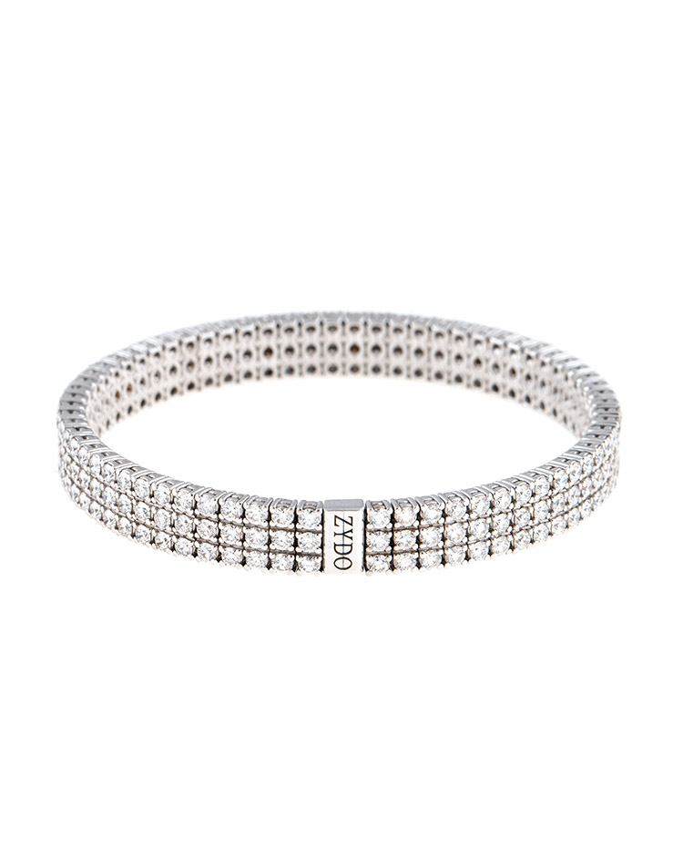 """Image of """"Stretch Collection 18K Gold Diamonds Bracelet"""""""