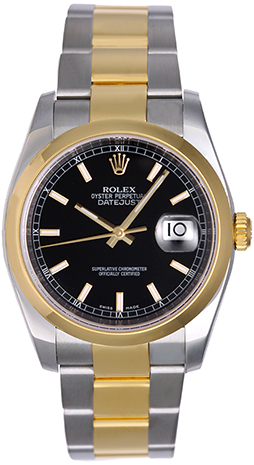 "Image of ""Rolex Datejust 116203 Stainless Steel and 18K Yellow Gold 36mm Mens"""
