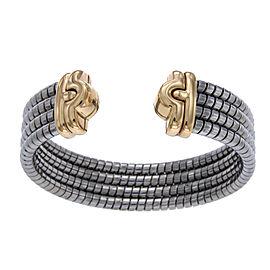 Bulgari 18K Yellow Gold & Stainless Steel Parentesi Bangle