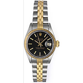 Rolex Date 6917 Stainless Steel & 18K Yellow Gold 26mm Womens Watch