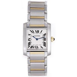 Cartier Tank Francaise W51012Q4 Stainless Steel & Yellow Gold Quartz 25mm Unisex Watch