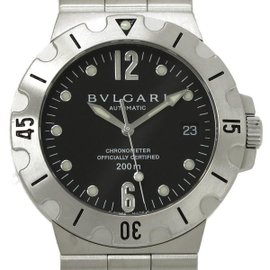 Bulgari Diagono Scuba Stainless Steel Automatic 38mm Mens Watch