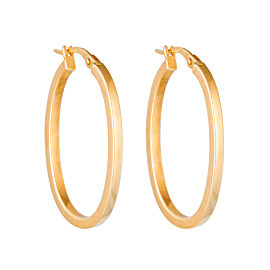 Roberto Coin 18K Yellow Gold Perfect Hoops Earrings