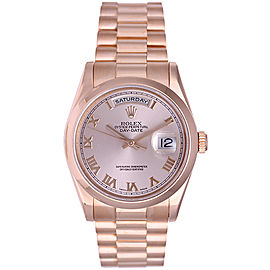 Rolex President Day-Date 118235 Rose Gold Pink Roman Dial 36mm Mens Watch