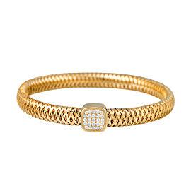 Roberto Coin Primavera 18K Yellow Gold 0.24ct Diamond Bangle Bracelet