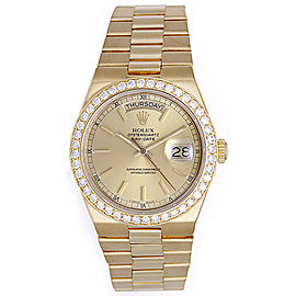 Rolex 19018 President Yellow Gold & Diamond 36mm Mens Watch