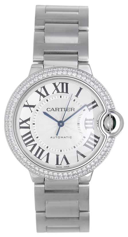 Cartier Ballon Bleu We9006Z3 18K White Gold wDiamond Automatic 36mm