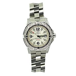 Breitling Superocean Stainless Steel & Diamond 44mm Watch