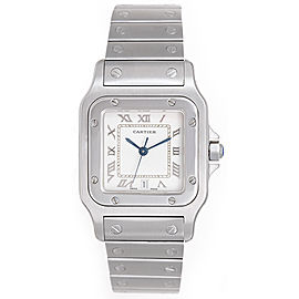 Cartier Santos Stainless Steel White Dial Automatic 41mm Mens Watch