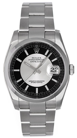 """Image of """"Rolex Datejust 116200 Stainless Steel Black/Silver Dial 36mm Mens"""""""