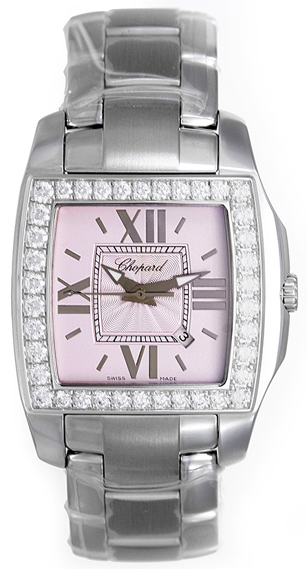 "Image of ""Chopard Two-O-Ten 138464-2007 Stainless Steel & White Gold Diamond"""