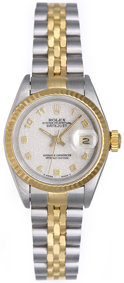 "Image of ""Rolex Datejust 69173 Stainless Steel & Yellow Gold Dial 26mm Womens"""