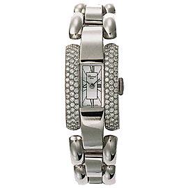 Chopard La Strada 416547-1001 18K White Gold Diamond 18mm Womens Watch