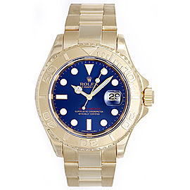 Rolex Yacht-Master 16628 18K Yellow Gold Blue Dial 40mm Mens Watch