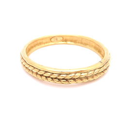 Chanel Gold Tone Metal Bangle