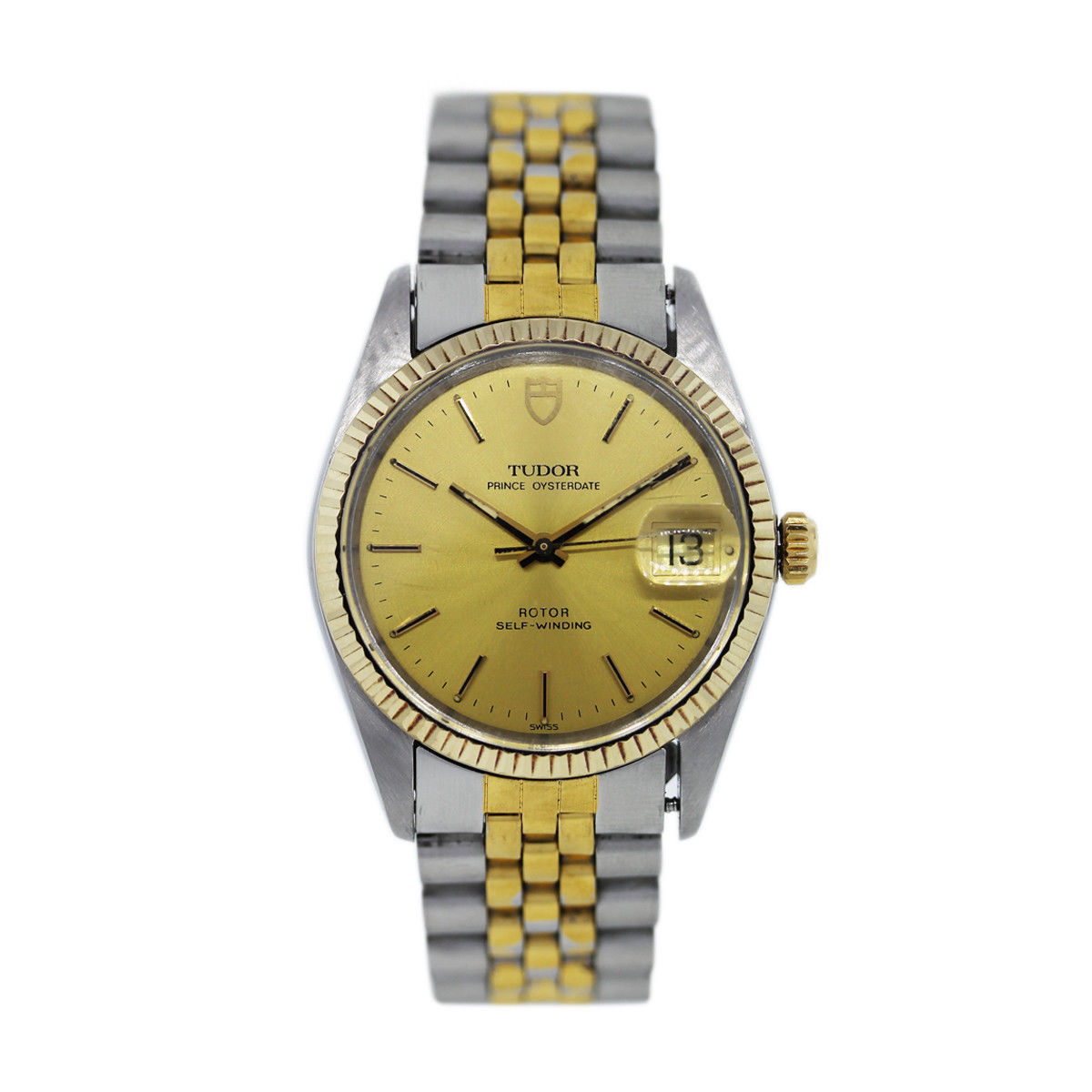 "Image of ""Tudor Oyster Date Prince 75203 Two-Tone Stainless Steel and Yellow"""