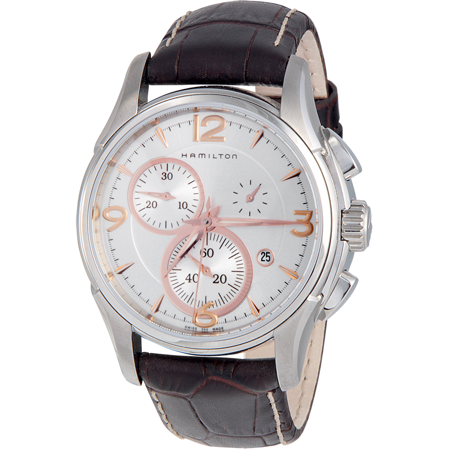 """Image of """"Hamilton Jazzmaster H32612555 Stainless Steel Chronograph Silver Dial"""""""