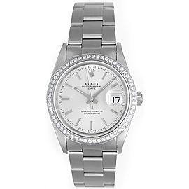 Rolex Date 15200 Stainless Steel 34mm Mens Watch