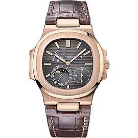 Patek Philippe 5712R 18K Rose Gold / Leather 38mm Mens Watch