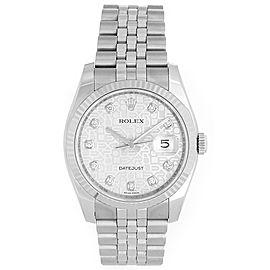 Rolex Datejust 116234 Stainless Steel Jubilee Diamond Dial 36mm Mens Watch
