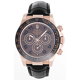 Rolex Cosmograph Daytona 116515 18K Rose Gold & Leather Automatic 40mm Men's Watch