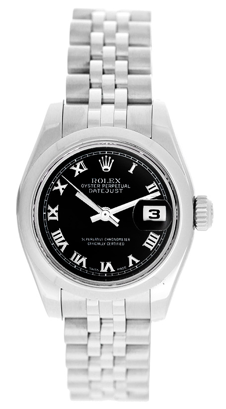 """Image of """"Rolex Datejust 179160 Stainless Steel with Black Roman Dial 26mm"""""""