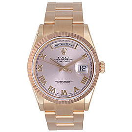 Rolex President Day-Date 118235 Rose Gold Roman Dial 36mm Mens Watch