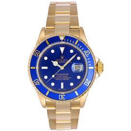 Rolex Submariner 16618 18K Yellow Gold 40mm Mens Watch