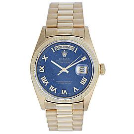 Rolex President Day-Date 18038 Aventurine Dial 18K Gold 36mm Mens Watch